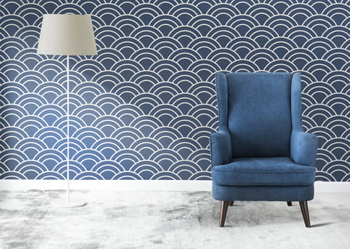 Blue Chair In A Room