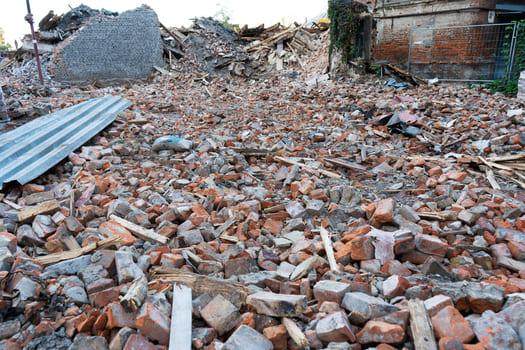 Dismantled Building Mountain Bricks Destruction Buildings