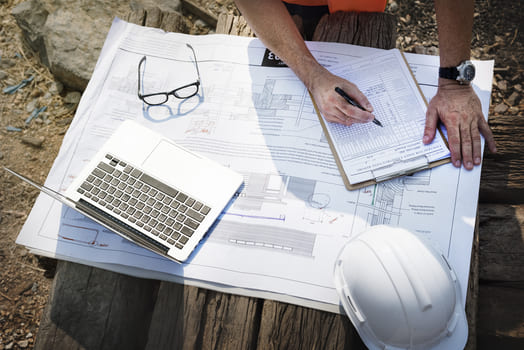Site Engineer On Construction Site