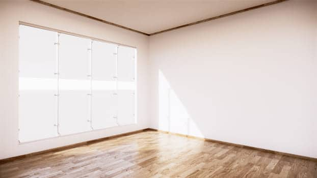 Vintage Empty Room Interior With Wooden Floor On White Wall Background 3d Rendering